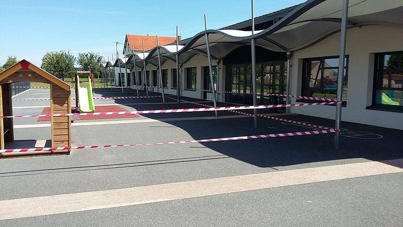 réorganisation de la cour de l'école